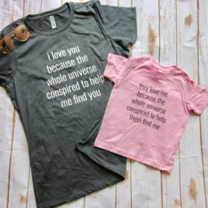 """They Love Me Because…"" Adoption Day T-shirt TODDLER TEE"