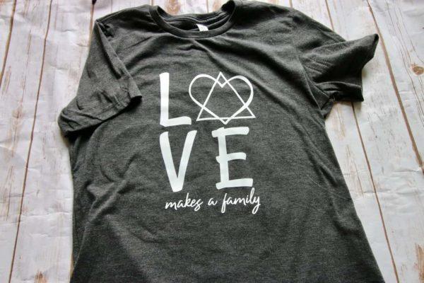 love makes a family tshirt