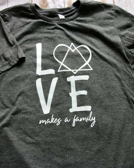 love makes a family tshirt