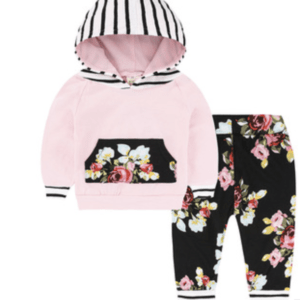 Baby Loungewear – Pink, floral and black
