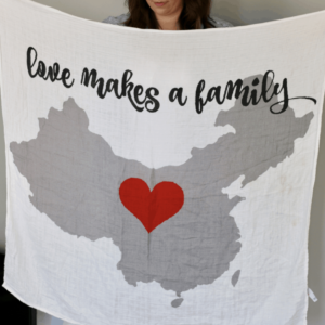 China Adoption – Muslin Swaddle Blanket