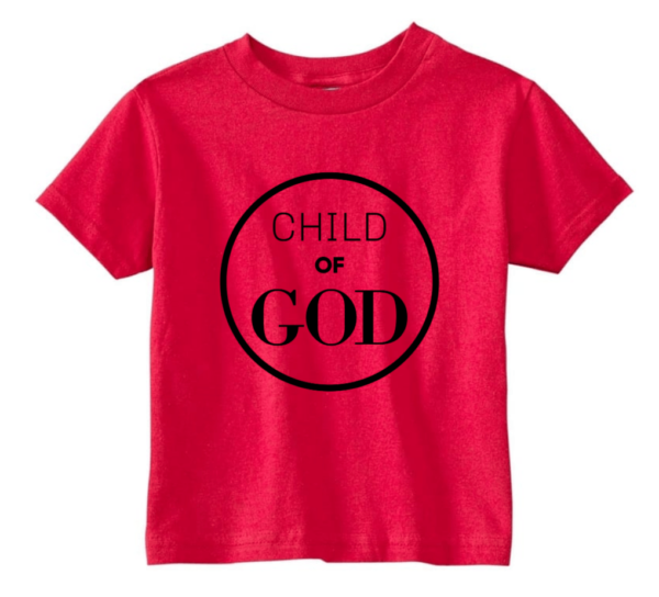 red child of God t-shirt
