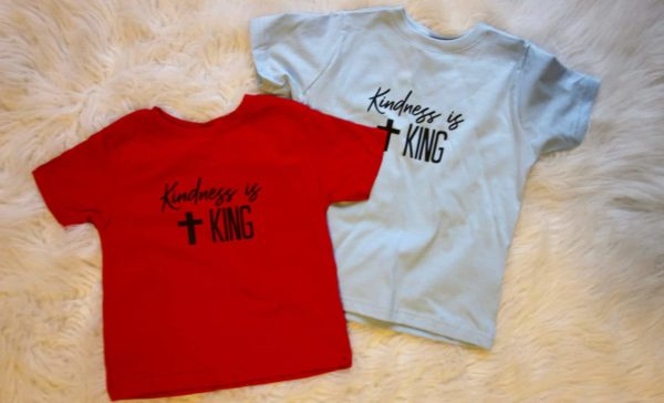 kindness is king kids tshirt