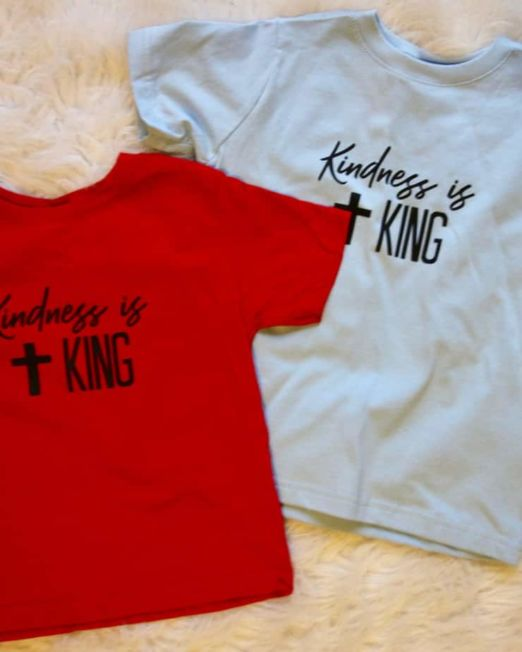 kindness is king kids tshirt