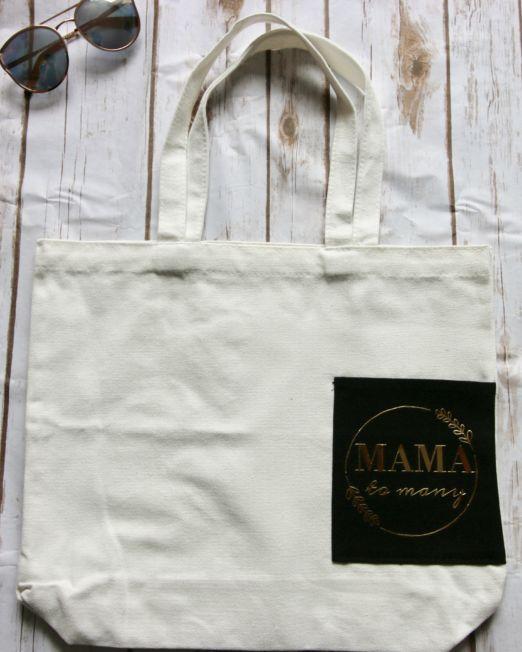 mama to many tote bag