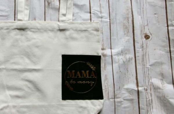 mama to many tote bag