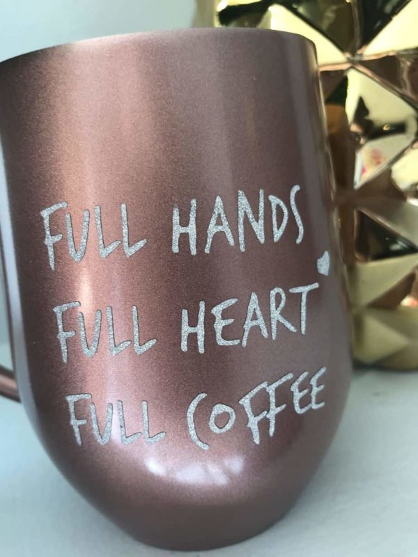 rose gold stainless steal tumbler